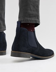 Red Tape Stockwood Chelsea Boots In Navy Suede