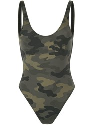 The Upside Camouflage Scoop Swimsuit Multicolour