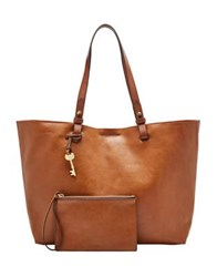 Fossil Rachel Leather Tote Vintage Brown