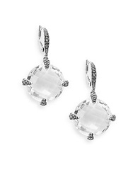 Judith Jack White Stone Marcasite And Sterling Silver Drop Earrings Crystal