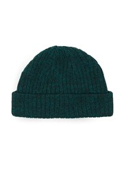 Topman Black And Green Mini Fit Beanie Hat