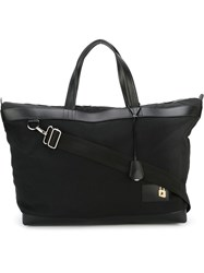 Golden Goose Deluxe Brand Leather Trim Holdall Black