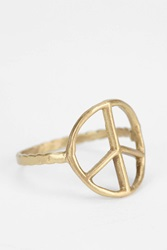 Bing Bang Peace Sign Ring Gold