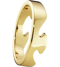 Georg Jensen Fusion End 18Ct Yellow Gold Ring