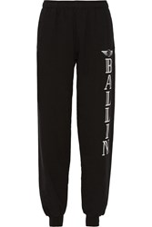 Brian Lichtenberg Ballin Printed Cotton Track Pants Black