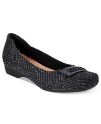 Clarks Collection Women's Blanche West Flats Women's Shoes Grey