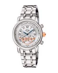 Gv2 44Mm Montreux Men's Stainless Steel Chronograph Watch Silver