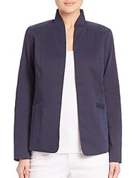 Eileen Fisher High Collar Jacket Midnight