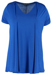Dorothy Perkins Curve Print Tshirt Blue Royal Blue