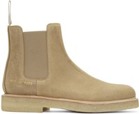 Common Projects Beige Suede Chelsea Workboots