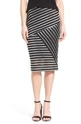 Women's Bobeau Stripe Mesh Tube Skirt