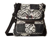 Sakroots Artist Circle Flap Crossbody Jet Brave Beauti Patch Cross Body Handbags Black