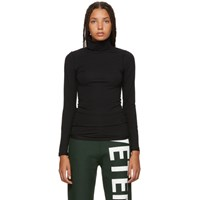 Vetements Black Fitted Inside Out Turtleneck