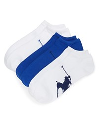 Ralph Lauren Big Polo Player Ped Socks Pack Of 3 Bright Navy