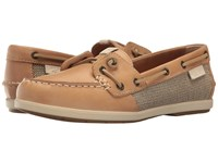 Sperry Coil Ivy Leather Canvas Tan Women's Moccasin Shoes