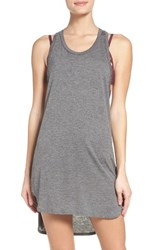 Leith Women's Racerback Cover Up Tank Dress Grey Excalibur Heather