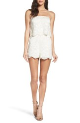 Ali And Jay Women's Stop Smell The Roses Strapless Romper