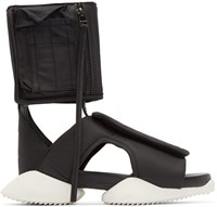 Rick Owens Black And White Cargo Sandals