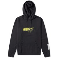 Axel Arigato Torn Embroidery Hoody Black