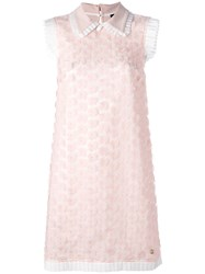 Class Roberto Cavalli Flower Embellished Dress Pink Purple