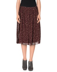 Attic And Barn Attic And Barn Knee Length Skirts Black