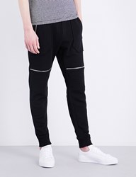 The Kooples Ribbed Detail Cotton Jogging Bottoms Bla01