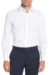 Lorenzo Uomo Big And Tall Trim Fit Seersucker Dress Shirt White
