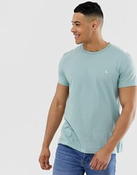 Jack Wills Sandleford Logo T Shirt In Mint Green