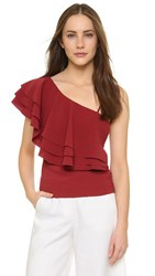 Designers Remix Wake Flare Blouse Dark Dusty Red