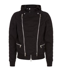 Balmain Double Zip Cotton Jacket Male Black
