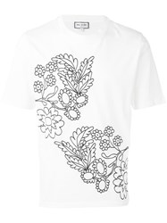Paul And Joe Embroidered Flower T Shirt Men Cotton Xl White