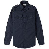 Dries Van Noten Chale Military Overshirt Blue