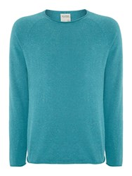 Blend Of America Plain Crew Neck Pull Over Jumpers Green