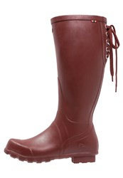 Viking Ruby Wellies Burgundy Dark Red