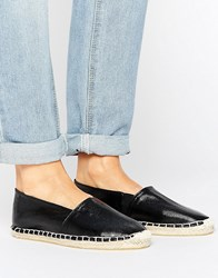 Pieces Haisha Metallic Black Espadrilles Black