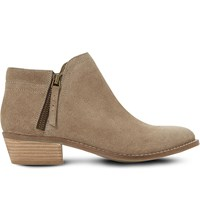 Dune Pollyanna Suede Ankle Boots Taupe Suede