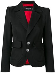 Dsquared2 Notched Lapel Blazer Black