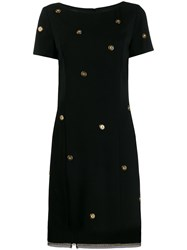 Class Roberto Cavalli Button Shift Dress Black