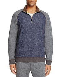 Robert Graham Stefano Color Block Sweatshirt Heather Indigo