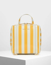 Charles And Keith Top Handle Square Backpack Multi