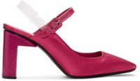 Alyx Pink Satin Squared Pointy Heels