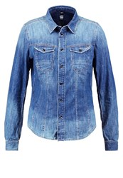 G Star Gstar Tacoma Slim Shirt L S Shirt Blue Denim