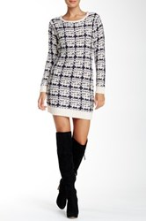Cliche Textured Pattern Sweater Dress Multi