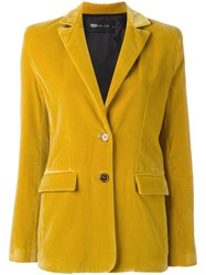 Michel Klein Peaked Lapel Blazer Yellow Orange