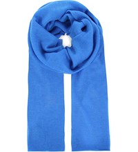 Joseph Knitted Cashmere Wide Scarf 338 Azure