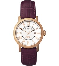 Links Of London Richmond Stainless Steel Rose Gold Plated Watch