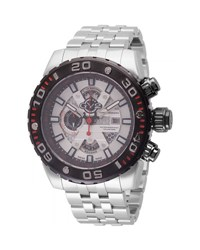 Gv2 48Mm Polpo Chronograph Stainless Steel Bracelet Watch Silver