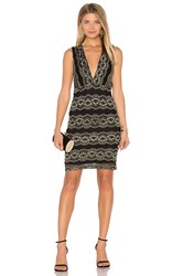 Nightcap Moroccan Lace Mini Dress Metallic Gold