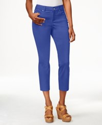 Charter Club Petite Cropped Colored Jeans Only At Macy's Blazing Blue