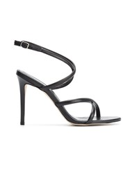 Egrey Leather Stiletto Sandals Black